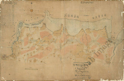 Military map of country of Petersburg Virginia c1864 36x24