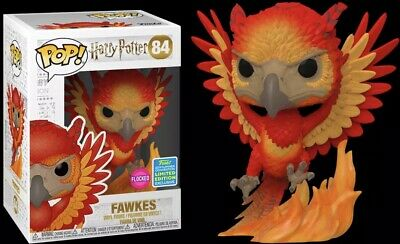Funko Pop HARRY POTTER Fawkes flocked SDCC Exclusive Harry Potter Limited Editio