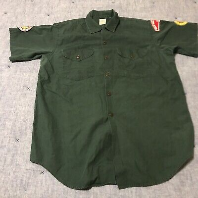 BOY SCOUTS Of America VENTURING Uniform Shirt Green Large