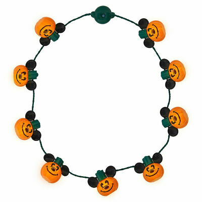 Disney Store Parks Mickey Mouse Light Up Pumpkin Necklace Glows Halloween NEW
