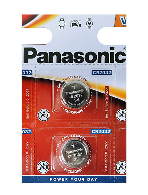 Panasonic CR2032 Battery 2 pack - Lithium Coin Cell, 3V