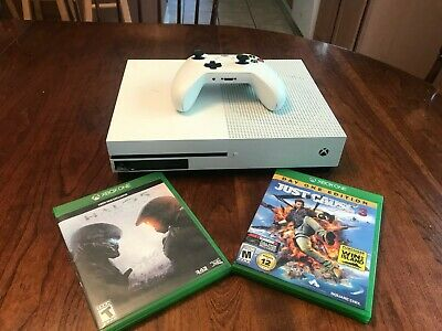 Microsoft Xbox One S 500GB White Console with Wireless Controller
