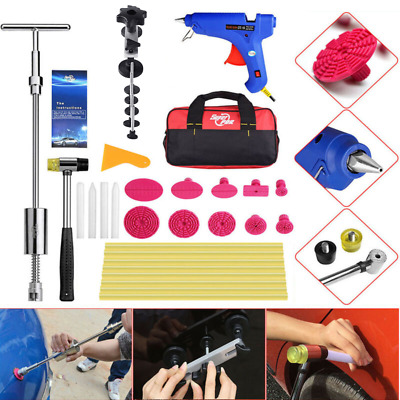 Car Body Paintless Hail Repair Dent Removal Slide Hammer Pulling Bridge PDR Kit