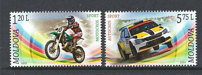 Moldova 2015 Motor Sport Cars Motorcycles - MNH Set - Cat £6.45 - (45)