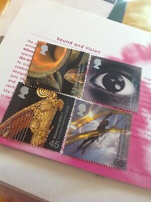 gb stamps mint. Sound And Vision 2000     F1