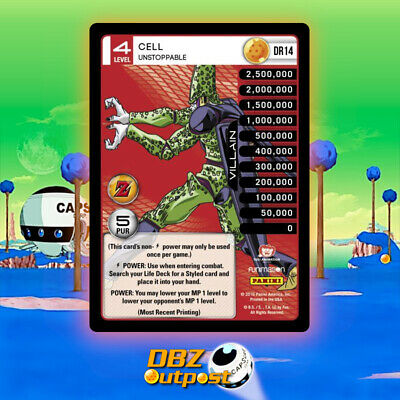 Dbz Ccg Panini Tcg Perfection Dragon Rare Booster Pack Foil Cell Imperfect DR1