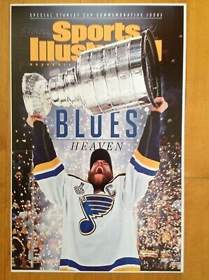 "St. Louis Blues Win 2019 Stanley Cup Title 11""X17"" Si Cover Commemorative Poster"