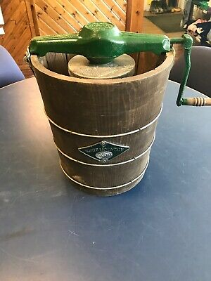White Mountain 4 QT Ice Cream Maker Hand Crank USED