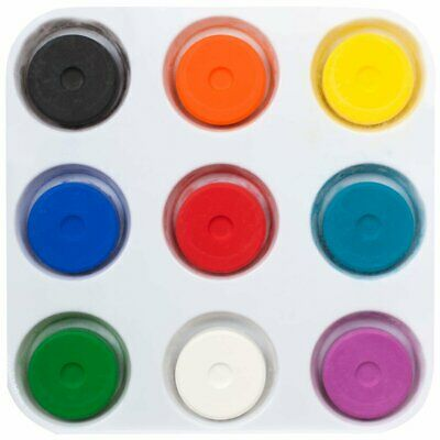 First Impressions Tempera Paint Cake Set of 9 with Palette