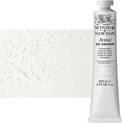 Winsor & Newton Artists' Oil Color 200 ml Tube - Titanium White
