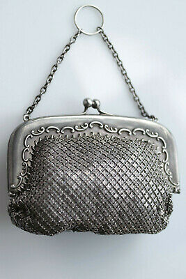 Vintage 925 Sterling Silver Mesh Coin Purse 04416KC