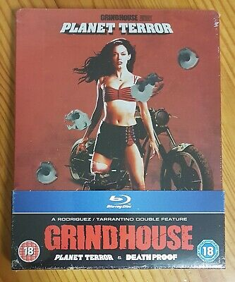 Grindhouse Planet Terror & Death Proof Limited Edition Bluray Steelbook Rare OOP
