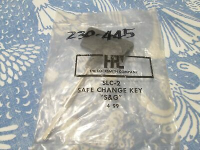 "Vintage HPC SLC-2 Change Key ""S&G"" Locksmith New In Package"