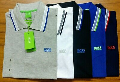 HUGO BOSS Men's Short Sleeve Classic Polo T-shirt Fast & Free Summer Sale !!!