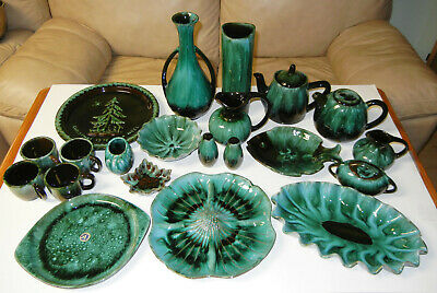 Blue Mountain Pottery Estate Sale - Green Glazed - Various Pcs./Various Prices