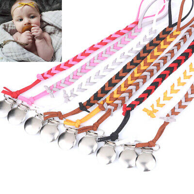 1Pc Baby pacifier clip chain holder soother pacifier clips leash strap nipple..
