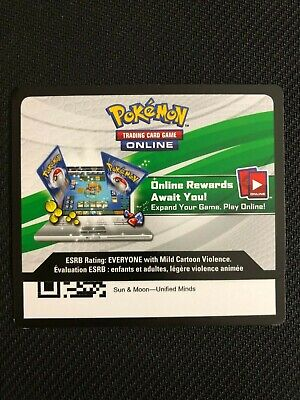 Pokemon SM Unified Minds TCG online code cards (12 count)