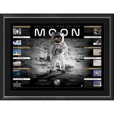The First Man on the Moon 50th Anniverary Limited Edition Lithograph Framed