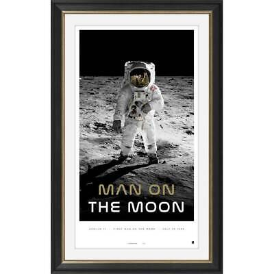 Man on the Moon 50th Anniversary Limited Edition Print Framed Neil Armstong