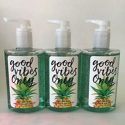 Bath & Body Works Good Vibes Only Pump Full Size Hand Sanitizer 7.6 oz x3