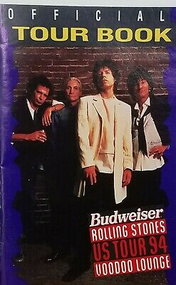 OFFICIAL 1994 BUDWEISER BEER Rolling Stones Voodoo Lounge '94 TOUR BOOK