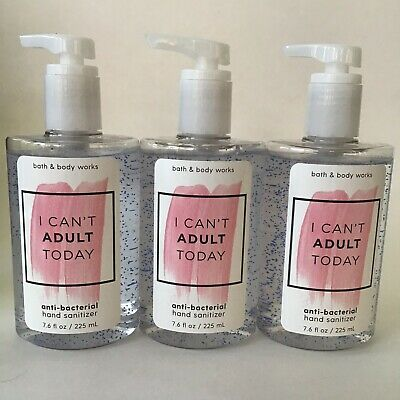 Bath & Body Works I Can't Adult Today Pump Full Size Hand Sanitizer 7.6 oz x3