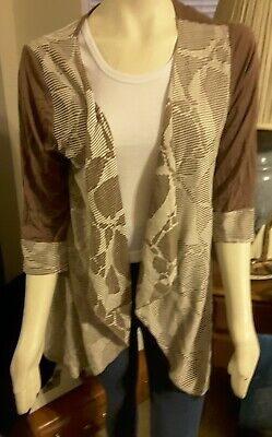 SALE/REDUCED! Aster By Firmiana Cocoa Brown & Cream Lightweight Jacket Size 2X