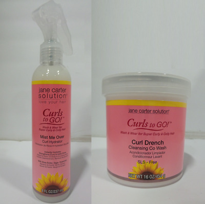 Jane Carter Curls To Go! Mist Me Over, 8 oz & Curl Drench, 16 oz Set