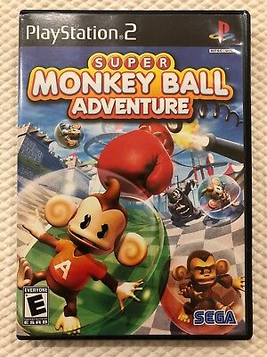 Super Monkey Ball Adventure ( Sony PlayStation 2 ) PS2 Complete W/Case & Manual