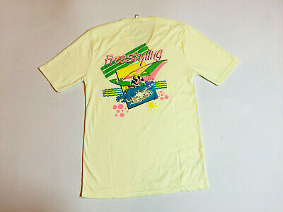 RARE 1980s Vintage T Shirt SURF WEAR Windsurfer Retro New Wave Original Hipster