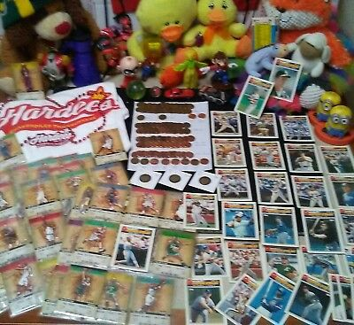 BIG VINTAGE JUNK DRAWER LOT! LINCOLN CENTS 1939S -2018 P D's + SPORT CARDS TOYS!