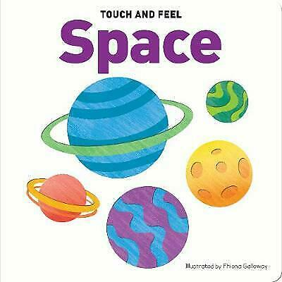 NEW Touch & Feel Space Planets Early Learning Educational Kids Fun Book Gift!