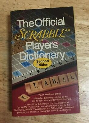 The Official Scrabble Players Dictionary Second Edition 1993, Vintage
