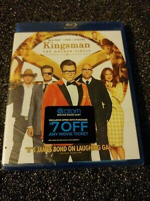 Kingsman: The Golden Circle (Blu-ray/DVD + Digital) Factory Sealed