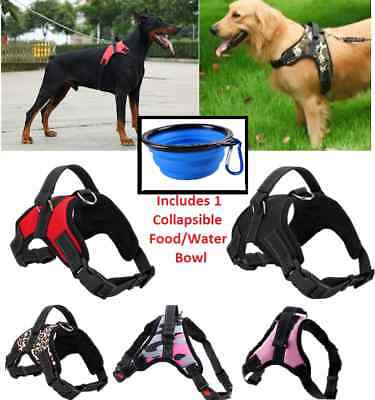 No Pull Adjustable Dog Pet Vest Harness Quality Nylon Small Large XL XXL