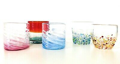 Okinawa limited gift Ryukyu Glass 5 piece-set Rock Glass, Suitable for Whisky