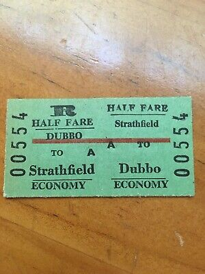 NSW Railway Ticket - Dubbo