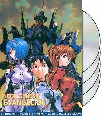Neon Genesis Evangelion completeTV 1-26 + Movies (End of Death Rebirth) Eng DVD