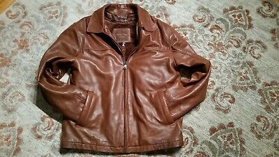 8a7631161 KNOLES & CARTER London Italian Lambskin Leather Jacket Zip Out Liner Men's  Large