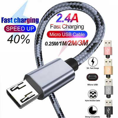 For Samsung Galaxy J8 J7 J6 J4 J3 J2 Micro USB Fast Charging Cable Data Charger