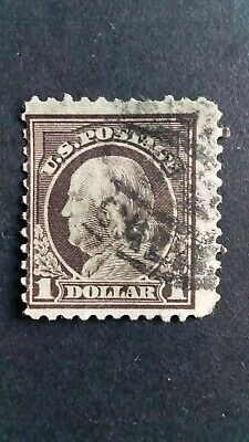 U.S.A Old $1 Franklin Used Stamp as Per Photo. CV $160.00. Very Low Start