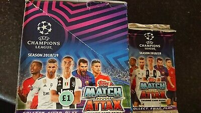 Topps Match Attax Champions League Cards  2018/19  40 packs new sealed