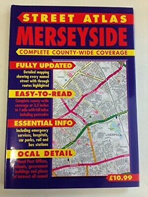 Street Atlas Merseyside: Complete County-Wide Coverage, Ted Smart, Good Conditio