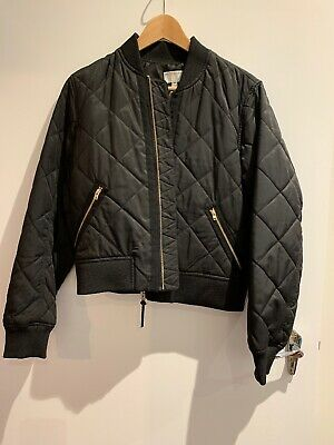 Witchery Quilted Bomber Jacket - Size 10