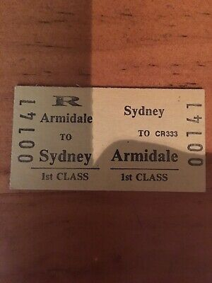 NSW Railway Ticket - Armidale First Class