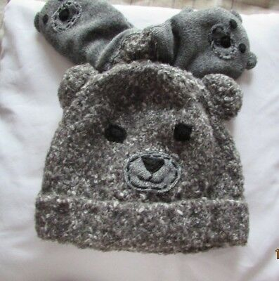 Nwt Grey Bear Boys Hat&Glove Set Age 5/6 Years Next