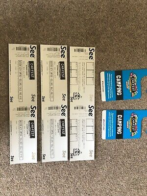 Carfest North Weekend Tickets (Camping Inc Big Early) 2x Adults & 2 x Kids 6-16y