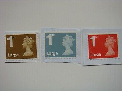 20/100/500 x 1st/First Class Large Letter Stamps UNFRANKED on Paper