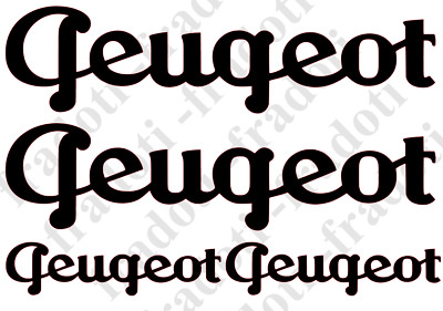 Pack of Adhesive Vinyl Stickers Decal - Logo Cycles Peugeot