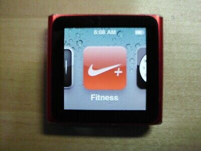 Apple 6th gen ipod nano (product) red 16GB - refurb, new screen & strong battery